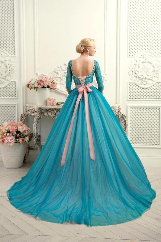 colored-wedding-dresses-2017-95 75+ Most Breathtaking Colored Wedding Dresses in 2018