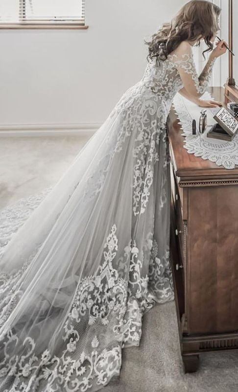 flattering-wedding-dresses-2017-36 89+ Most Flattering Wedding Dresses Brides-to-be Need to See