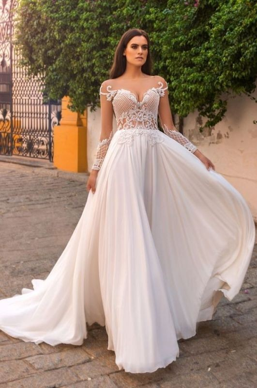 flattering-wedding-dresses-2017-52 89+ Most Flattering Wedding Dresses Brides-to-be Need to See