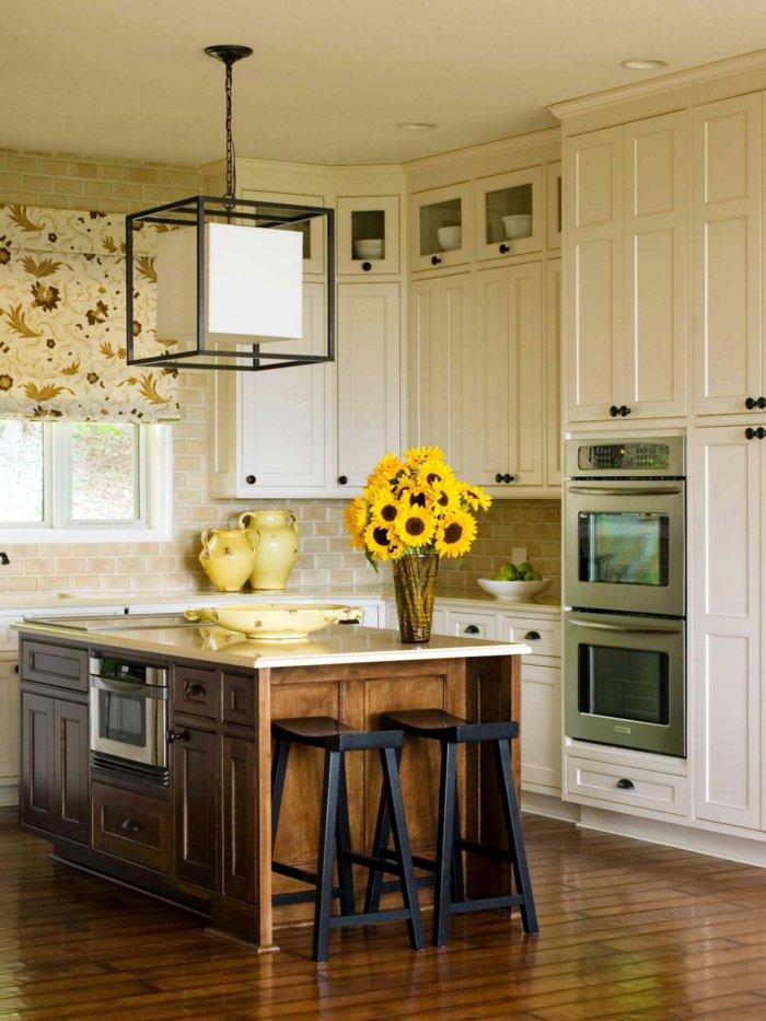 flower-table-decorate-kitchen-island-decorate-colored-rollless 6 Affordable Organizing and Decoration Ideas for your Kitchen