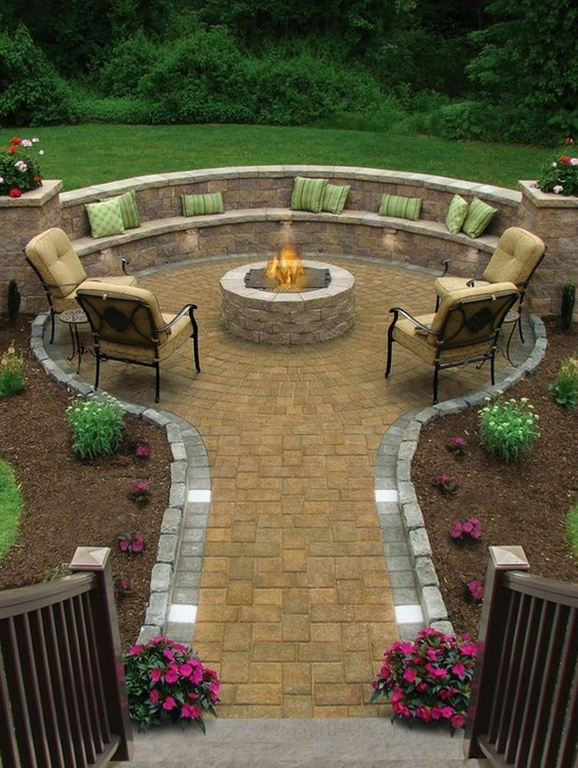 img12 Delightful and Affordable Fire pit Decoration Designs in 2018