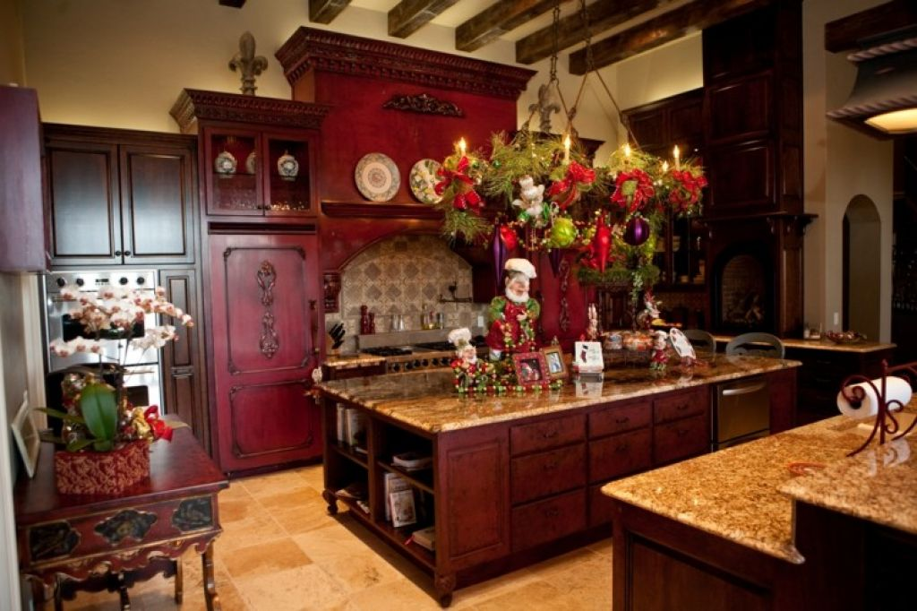 kitchen-with-wooden-kitchen-island-and-granite-countertops 6 Affordable Organizing and Decoration Ideas for your Kitchen