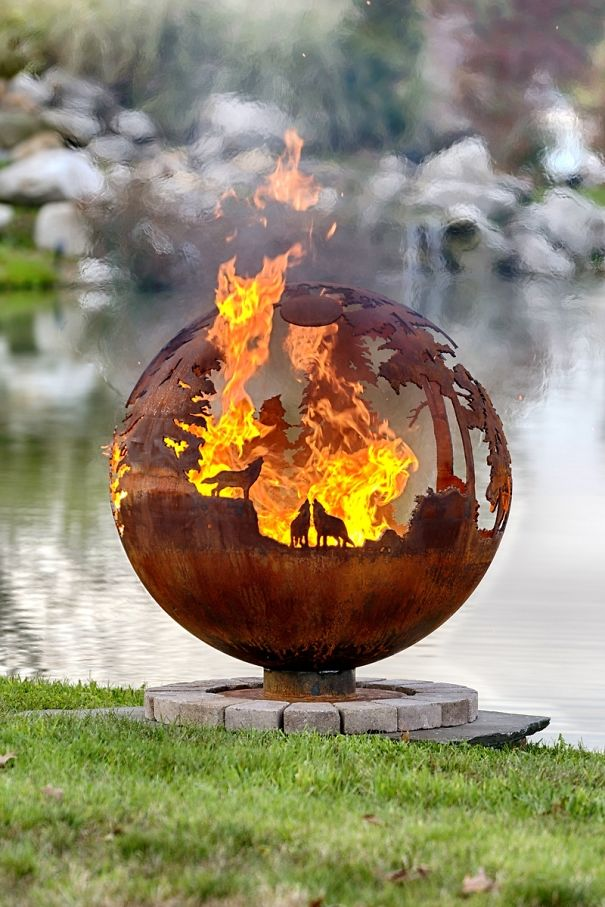 metal-fire-combination-10 8 Delightful and Affordable Fire pit Decoration Designs in 2020