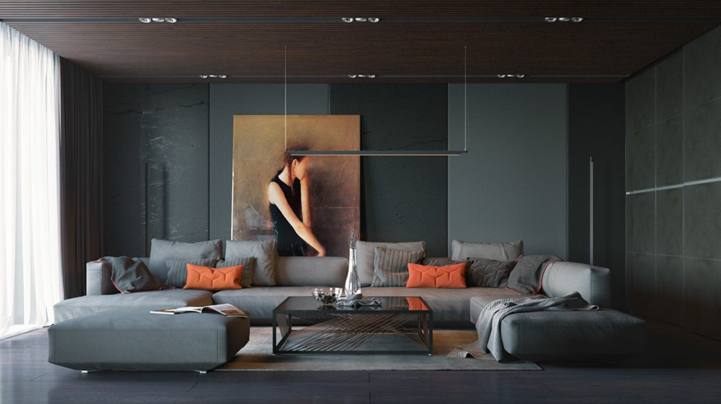 orange-and-black-interior-artwork-ideas 10 Ways to Add Glam to Your Hollywood Home