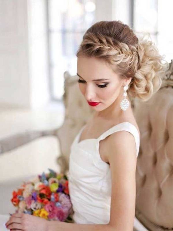 wedding-hairstyles-2017-107 81+ Beautiful Wedding Hairstyles for Elegant Brides in 2020