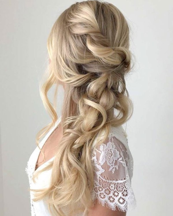 wedding-hairstyles-2017-169 81+ Beautiful Wedding Hairstyles for Elegant Brides in 2020