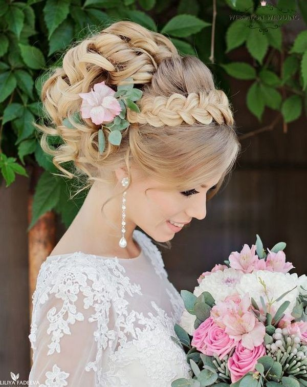wedding-hairstyles-2017-177 81+ Beautiful Wedding Hairstyles for Elegant Brides in 2020
