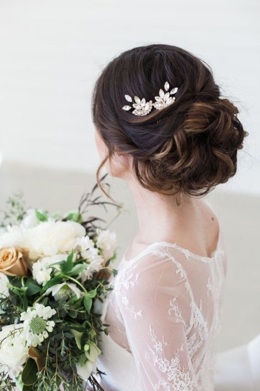 wedding-hairstyles-2017-18 81+ Beautiful Wedding Hairstyles for Elegant Brides in 2018