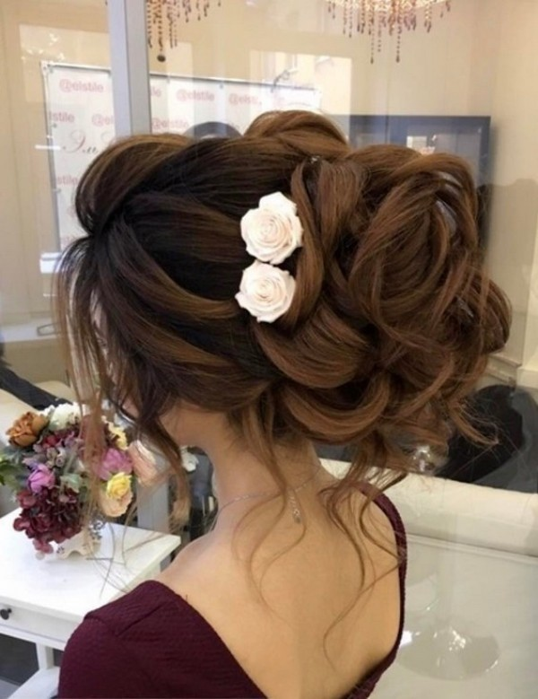 wedding-hairstyles-2017-182 81+ Beautiful Wedding Hairstyles for Elegant Brides in 2020