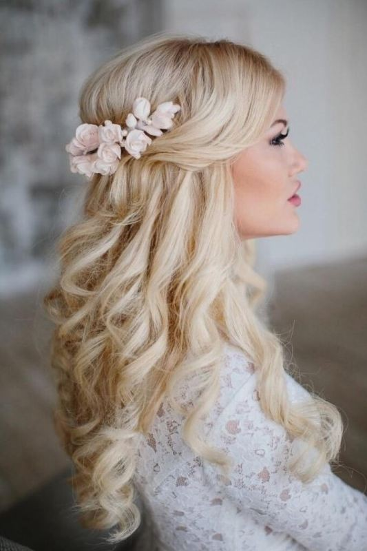 wedding-hairstyles-2017-28 81+ Beautiful Wedding Hairstyles for Elegant Brides in 2018
