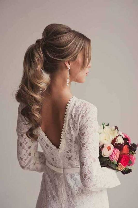 wedding-hairstyles-2017-30 81+ Beautiful Wedding Hairstyles for Elegant Brides in 2020