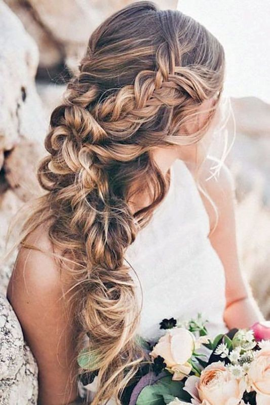 wedding-hairstyles-2017-35 81+ Beautiful Wedding Hairstyles for Elegant Brides in 2020