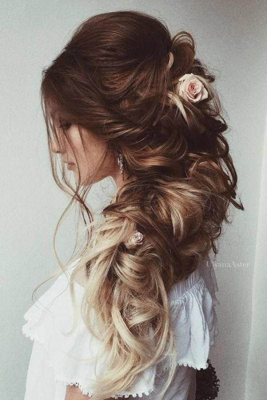 wedding-hairstyles-2017-38 81+ Beautiful Wedding Hairstyles for Elegant Brides in 2020