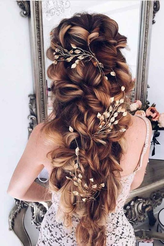 wedding-hairstyles-2017-39 81+ Beautiful Wedding Hairstyles for Elegant Brides in 2020