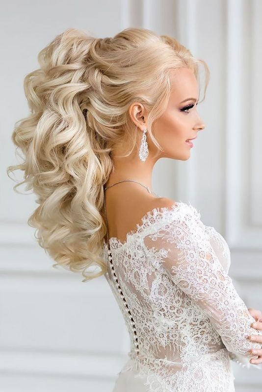 wedding-hairstyles-2017-56 81+ Beautiful Wedding Hairstyles for Elegant Brides in 2020