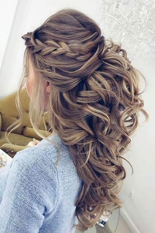 wedding-hairstyles-2017-57 81+ Beautiful Wedding Hairstyles for Elegant Brides in 2020