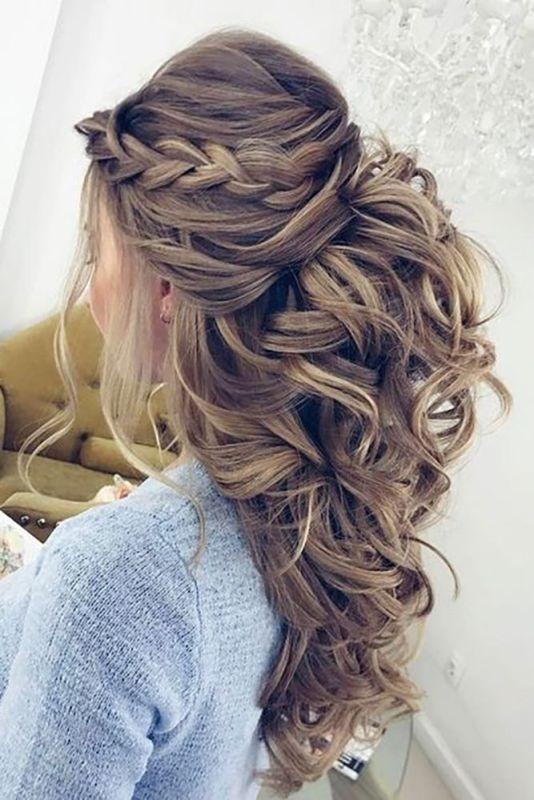 wedding-hairstyles-2017-57 81+ Beautiful Wedding Hairstyles for Elegant Brides in 2020