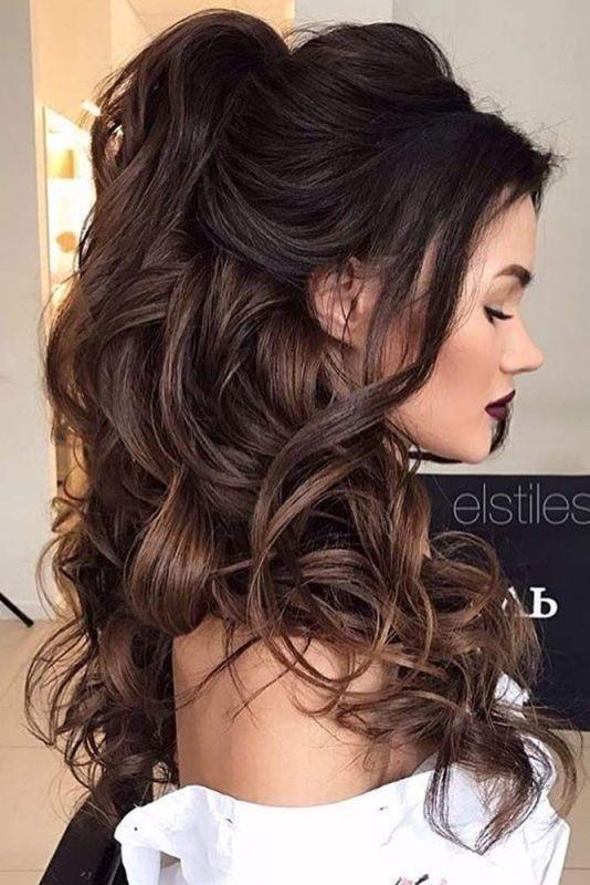 wedding-hairstyles-2017-63 81+ Beautiful Wedding Hairstyles for Elegant Brides in 2020