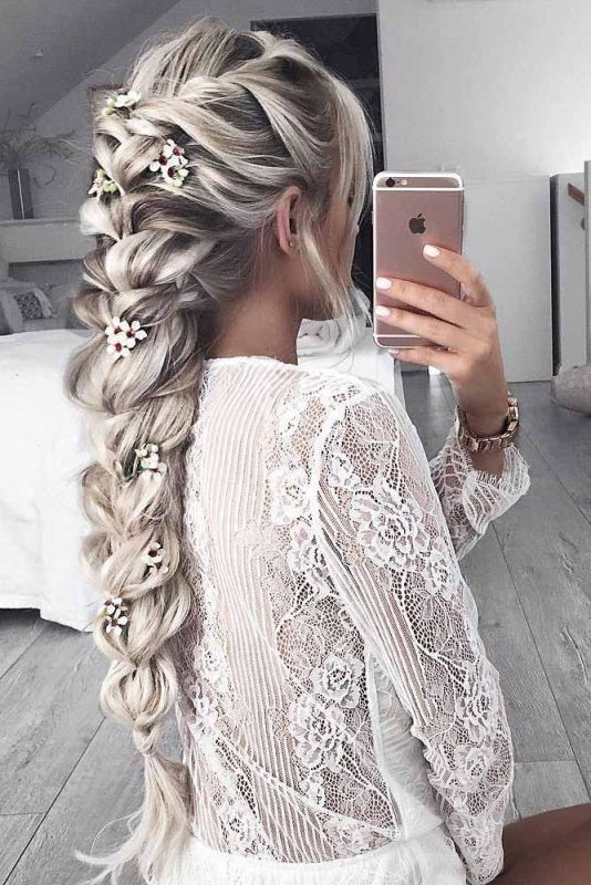 wedding-hairstyles-2017-64 81+ Beautiful Wedding Hairstyles for Elegant Brides in 2020