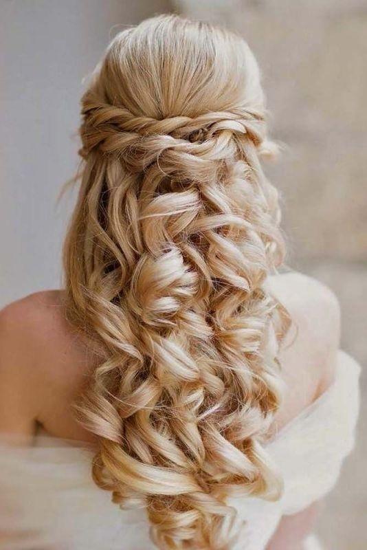 wedding-hairstyles-2017-66 81+ Beautiful Wedding Hairstyles for Elegant Brides in 2020