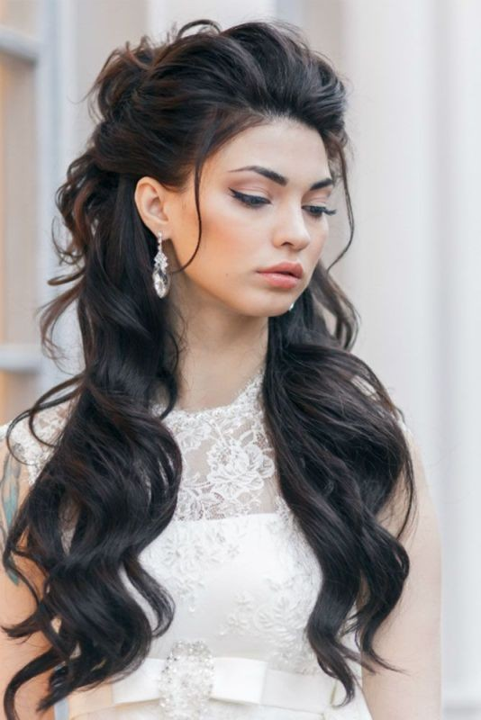 wedding-hairstyles-2017-70 81+ Beautiful Wedding Hairstyles for Elegant Brides in 2020