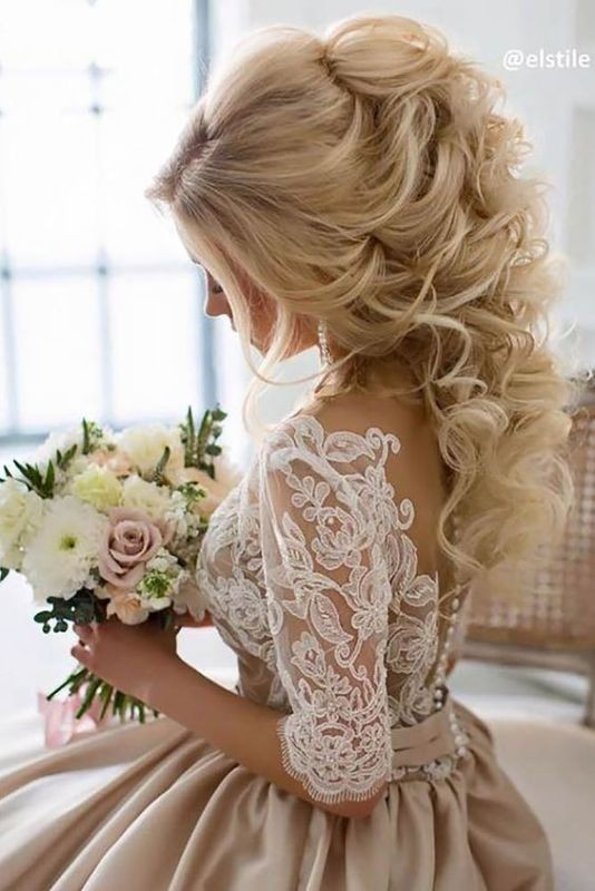 wedding-hairstyles-2017-72 81+ Beautiful Wedding Hairstyles for Elegant Brides in 2020