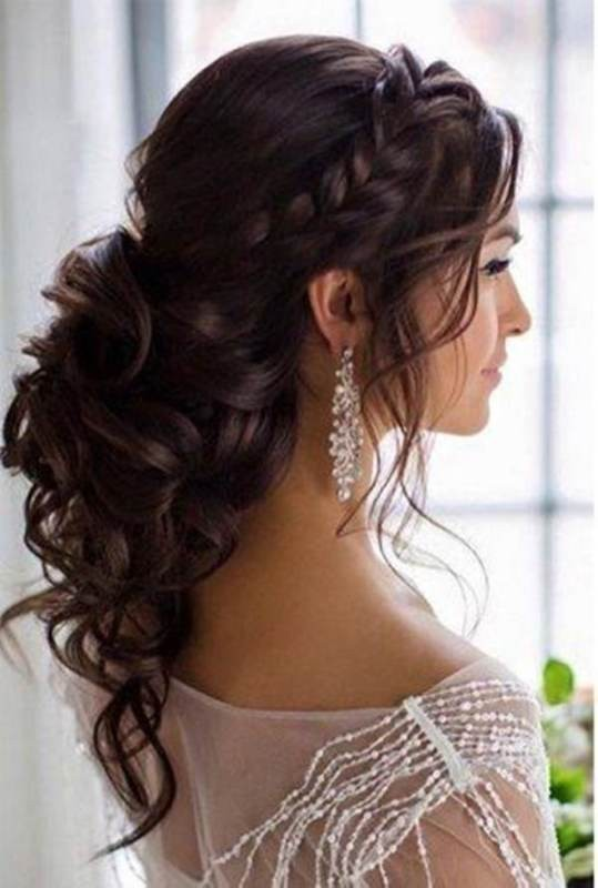 wedding-hairstyles-2017-74 81+ Beautiful Wedding Hairstyles for Elegant Brides in 2020