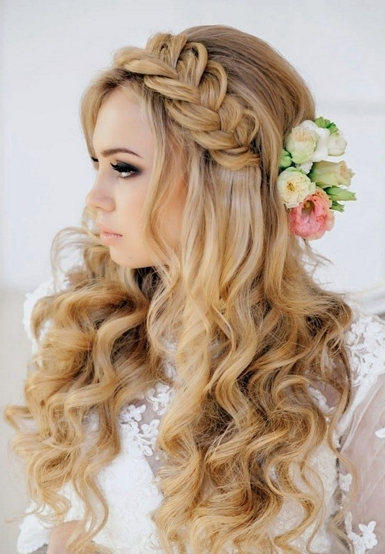 wedding-hairstyles-2017-83 81+ Beautiful Wedding Hairstyles for Elegant Brides in 2020