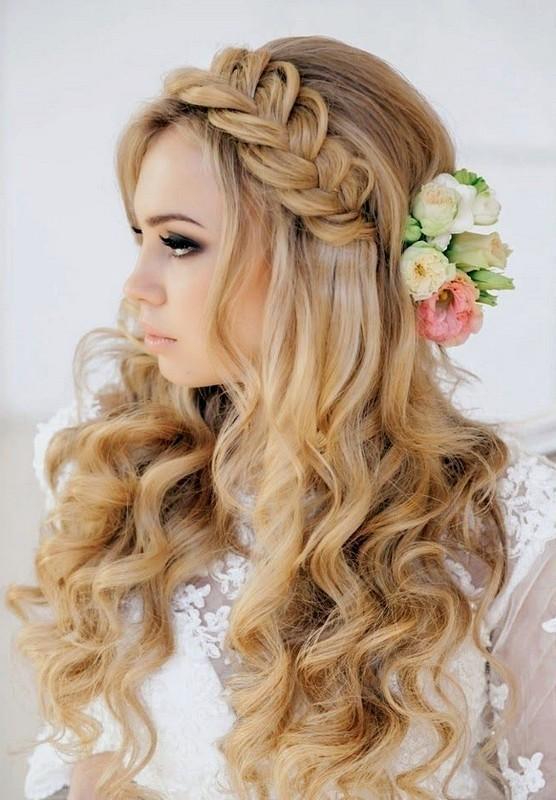 wedding-hairstyles-2017-83 81+ Beautiful Wedding Hairstyles for Elegant Brides in 2020