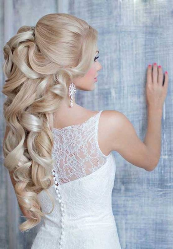 wedding-hairstyles-2017-85 81+ Beautiful Wedding Hairstyles for Elegant Brides in 2020