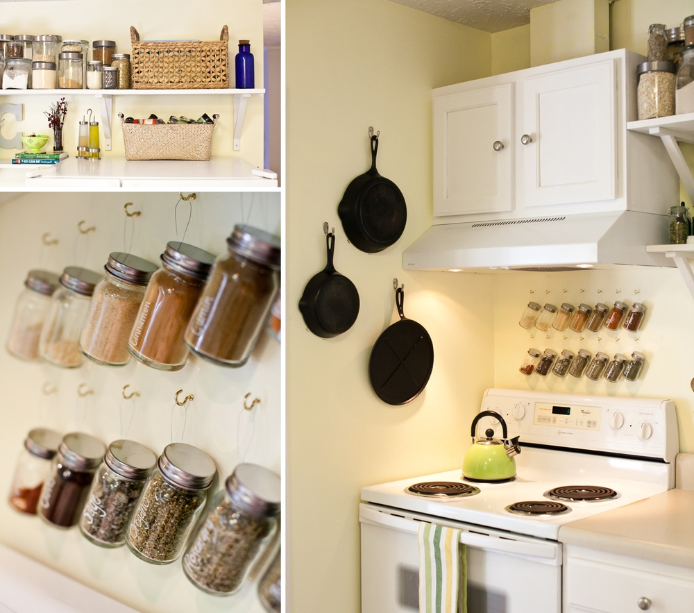 white-color-scheme-for-diy-very-small-kitchen-remodel-ideas 6 Affordable Organizing and Decoration Ideas for your Kitchen