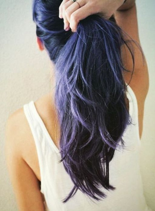 Amethyst-to-navy-haircolor-3 16 Celebrity Hottest Hair Trends for Summer 2020