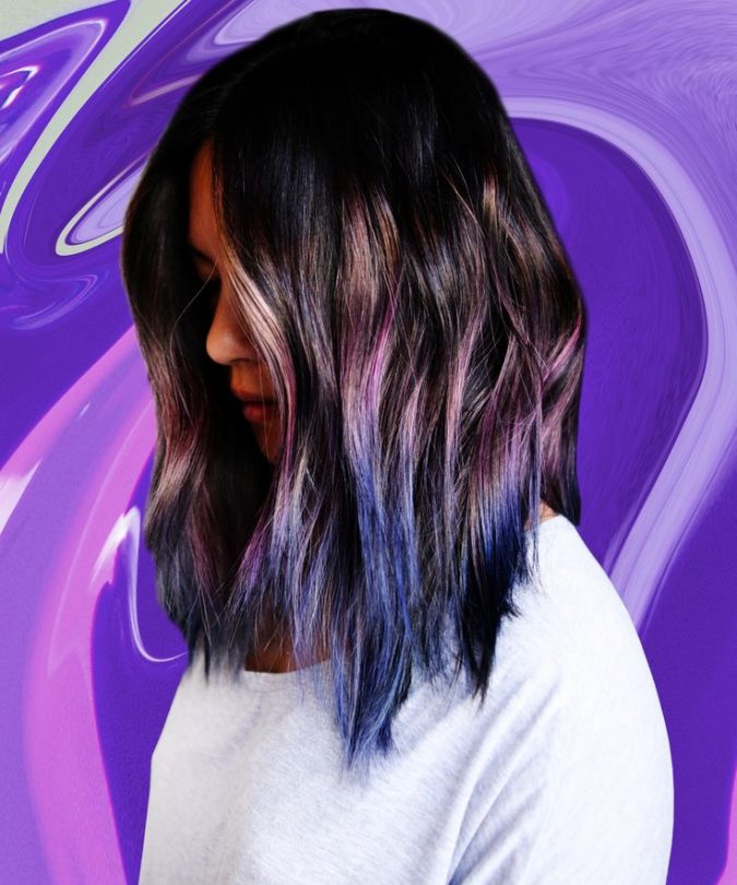 Amethyst-to-navy-haircolor-675x810 16 Celebrity Hottest Hair Trends for Summer 2020