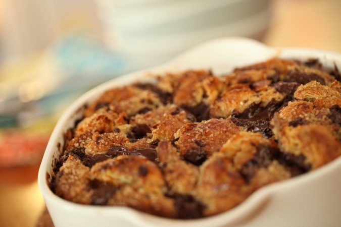 Croissant-and-Chocolate-Bread-Pudding-675x450 25 Romantic Chocolate Treats for the Valentine's Day