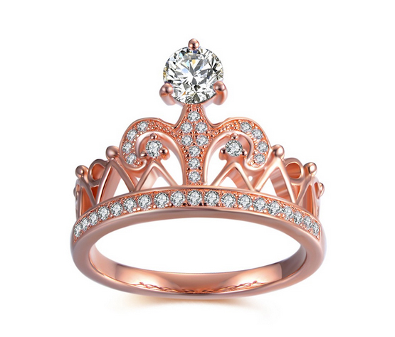 Crown-Round-Cut-White-Sapphire-925-Sterling-Silver-Womens-Ring-900258 Lajerrio Disclose Top 10 Elegant Jewelry Trends to Go for in 2018