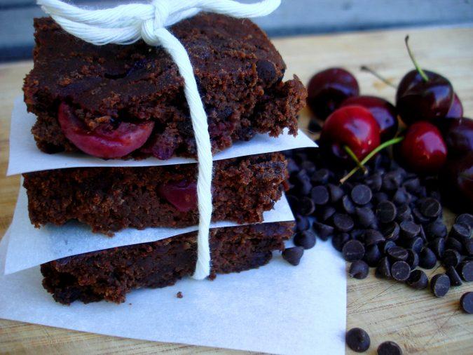 Dark-Chocolate-Cherry-Brownies-2-675x506 25 Romantic Chocolate Treats for the Valentine's Day