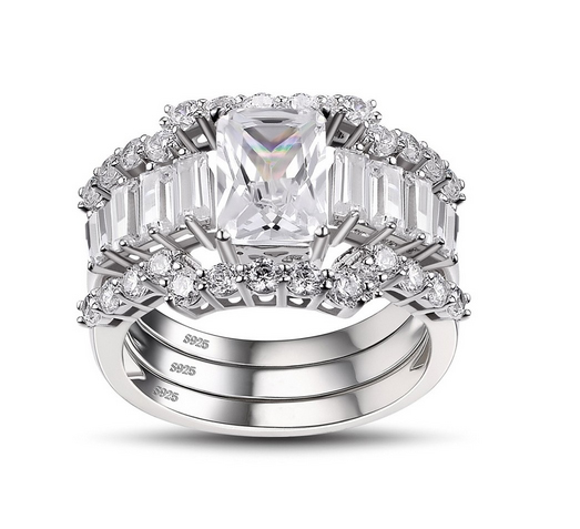 Emerald-Cut-White-Sapphire-925-Sterling-Silver-Womens-Ring-500694 Lajerrio Disclose Top 10 Elegant Jewelry Trends to Go for in 2018