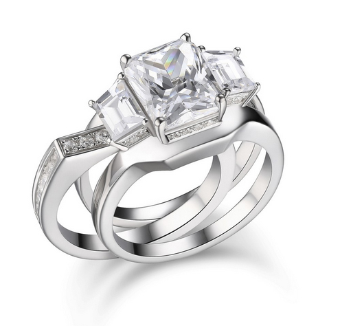 Emerald-Cut-White-Sapphire-Sterling-Silver-Womens-Engagement-Ring-500323 Lajerrio Disclose Top 10 Elegant Jewelry Trends to Go for in 2018
