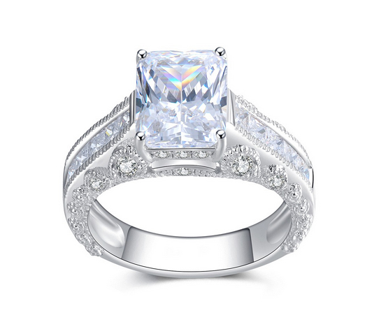Emerald-Cut-White-Sapphire-Sterling-Silver-Womens-Ring-600317 Lajerrio Disclose Top 10 Elegant Jewelry Trends to Go for in 2018