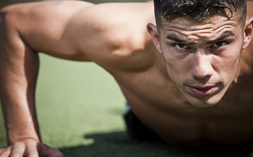 Intense-Athlete-Workout-Pushup 6 Main Testosterone Benefits For Athletic Performance