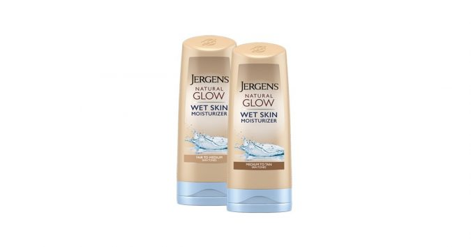 Jergens-Natural-Glow-Wet-Skin-Moisturizer-2-675x354 18 Best-selling makeup products of all time