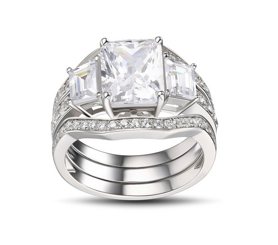 Luxury-Emerald-Cut-White-Sapphire-925-Sterling-Silver-Womens-Engagement-Ring-500318 Lajerrio Disclose Top 10 Elegant Jewelry Trends to Go for in 2018