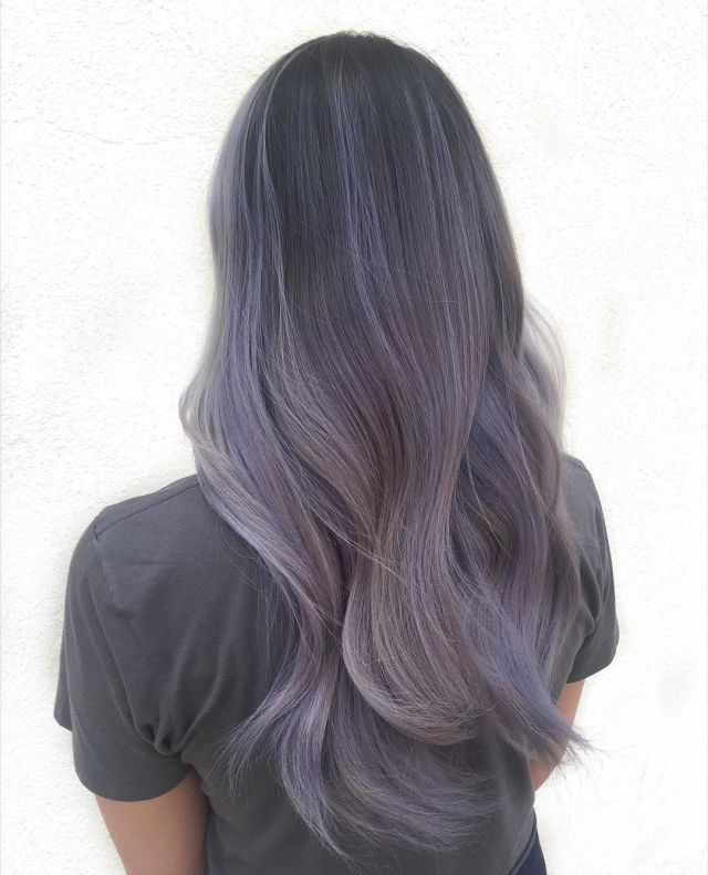 Smoky-Lilac-smoky-hair-color-smokey-purple-hair 16 Celebrity Hottest Hair Trends for Summer 2020