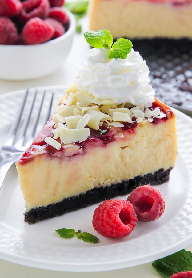 White-Chocolate-Raspberry-Cheesecake 25 Romantic Chocolate Treats for the Valentine's Day
