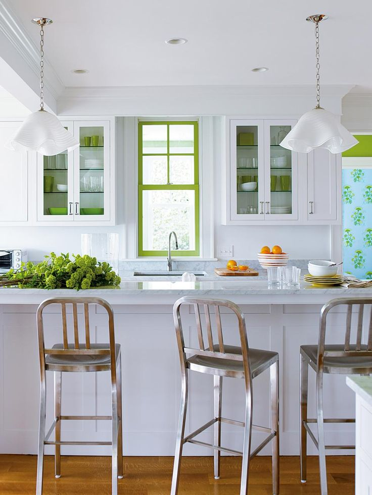 b391f75cc82bb394630a6ca25b052682-painted-window-frames-window-paint Great Ways to Make Your Dream Green Kitchen