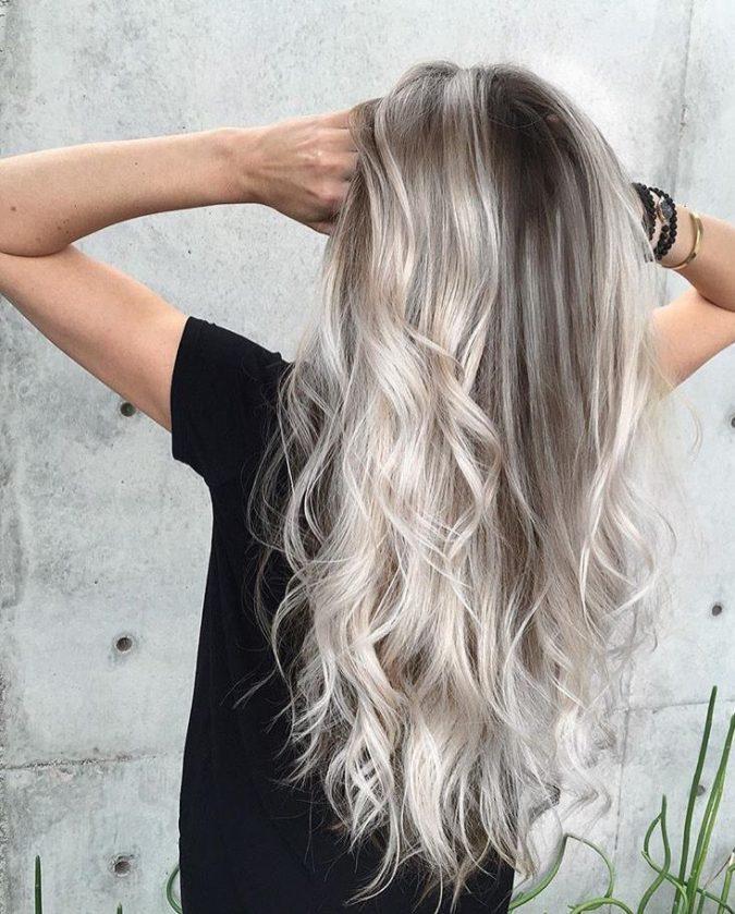 blonde-gray-hair-black-hair-675x839 16 Celebrity Hottest Hair Trends for Summer 2017