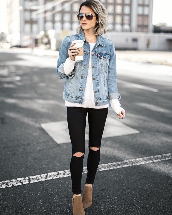 denim-jackets-for-school-12 10+ Cool Back-to-School Outfit Ideas for 2017/2018
