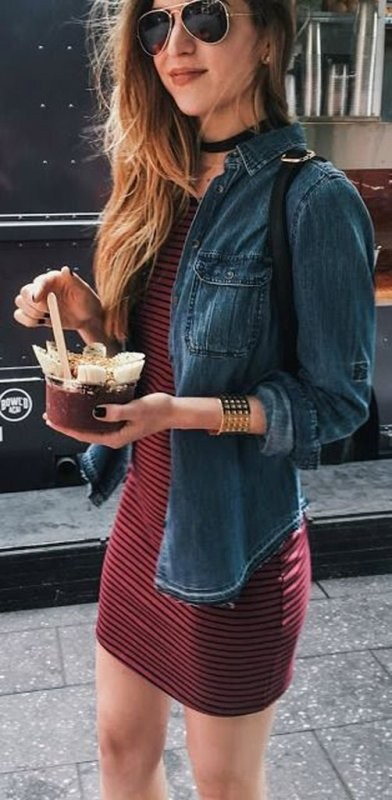 denim-jackets-for-school-2 10+ Cool Back-to-School Outfit Ideas for 2018