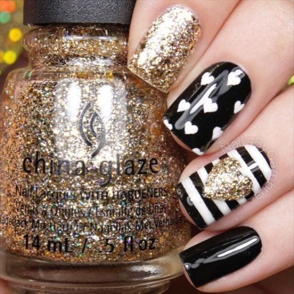 glitter-nail-art-ideas-101 89+ Glitter Nail Art Designs for Shiny & Sparkly Nails