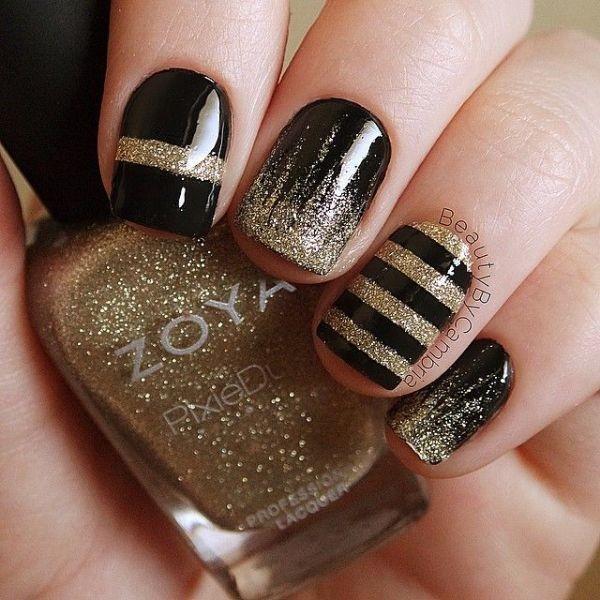glitter-nail-art-ideas-102 89+ Glitter Nail Art Designs for Shiny & Sparkly Nails